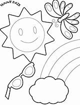 Coloring Pages Sunny Windy Weather Getcolorings Printable Preschool sketch template