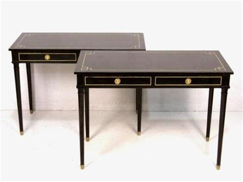 Black Writing Desk And Chair by Maison Jansen Black Lacquer Writing Desk At 1stdibs