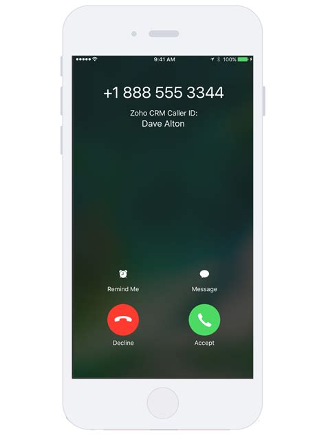 iphone caller id zoho brings contextual integration to mobile apps with ios