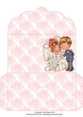 wedding couple money wallet cup craftsuprint