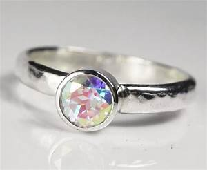 mystic topaz engagement ring unique alternative wedding ring With wedding ring alternative