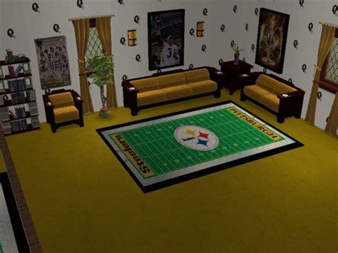 mod  sims pittsburgh steelers bedroom  living room