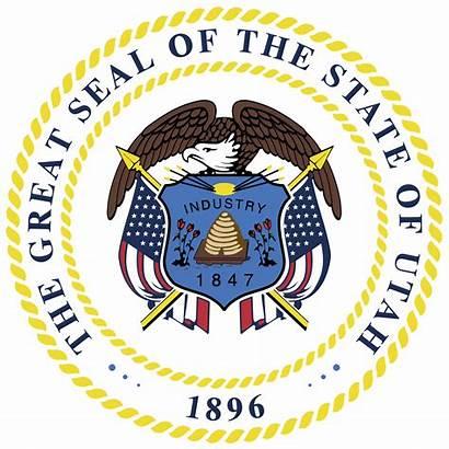 Utah Seal State Svg Mormon Stateseal Beehive