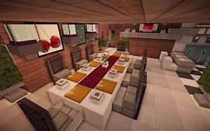jade modern minecraft kitchen table Minecraft