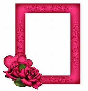 Beautiful Transparent PNG Pink Frame with Roses | Photo ...