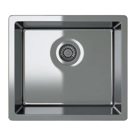 ikea stainless steel sink bredskär single bowl inset sink 20 1 2x18 1 8 quot ikea