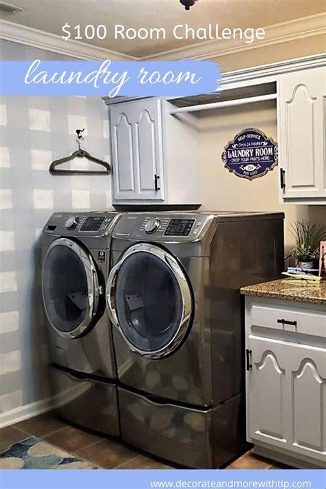 laundry room reveal  room challenge decorate
