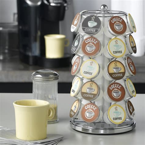 2020 popular 1 trends in home & garden, toys & hobbies, jewelry & accessories, automobiles & motorcycles with coffee accessories and 1. Nifty Home Coffee Pod Carousel - Chrome - Coffee Accessories at Hayneedle