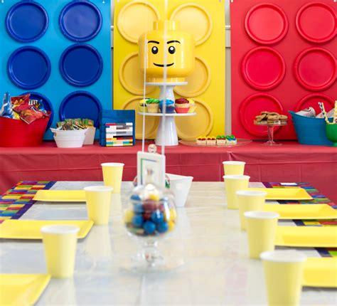 centerpiece ideas for dining room table a totally awesome and easy lego birthday the home