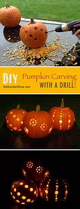 Diy, Pumpkin, Carving, With, A, Drill