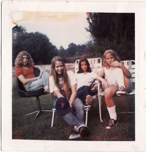 Polaroid Prints Of Teen Girls In The 1970s Retro Style