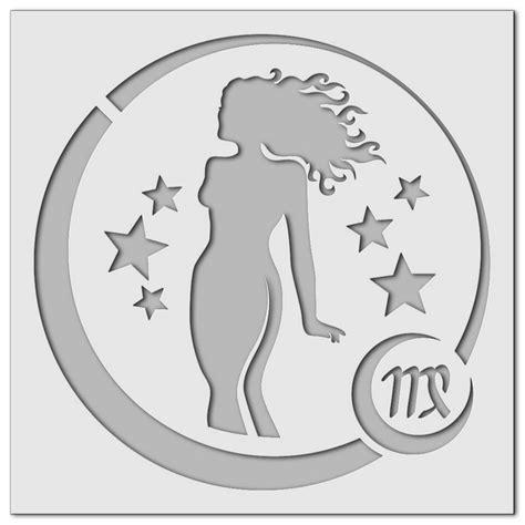 Sternzeichen Jungfrau Und Jungfrau by Wandschablonen Sternzeichen Jungfrau Schablono