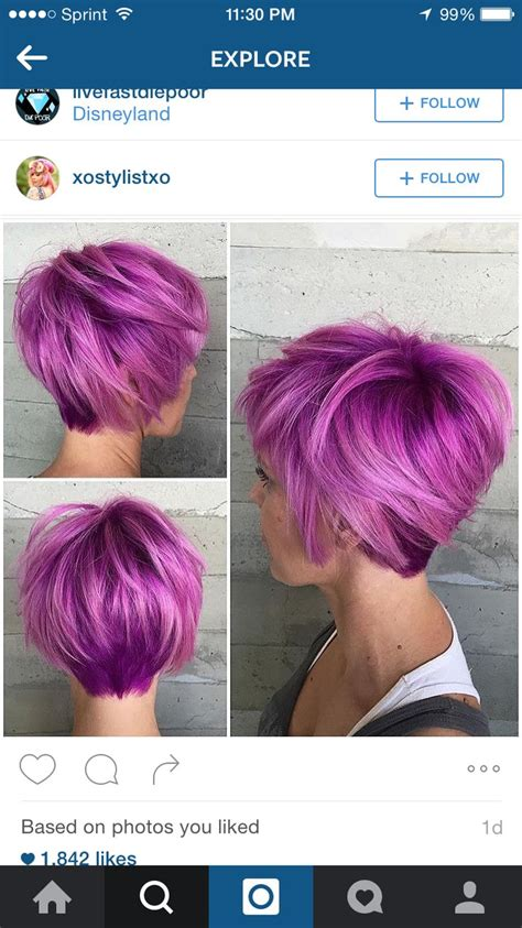 25 Best Ideas About Purple Pixie Cut On Pinterest Dyed