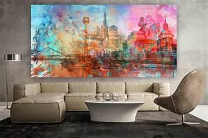 Kunstdruck Auf Leinwand : d sseldorf kunstdrucke als moderne wandbilder auf leinwand und acryl ~ Eleganceandgraceweddings.com Haus und Dekorationen