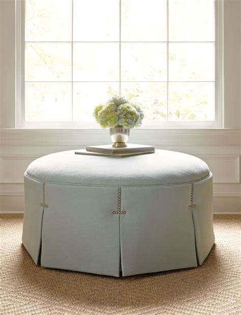 large white tufted ottoman pleated tufted round ottoman ailanthus ltd it 39 s all