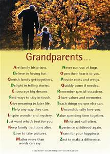 Sample letters giving grandparents >> footprint poems for ...