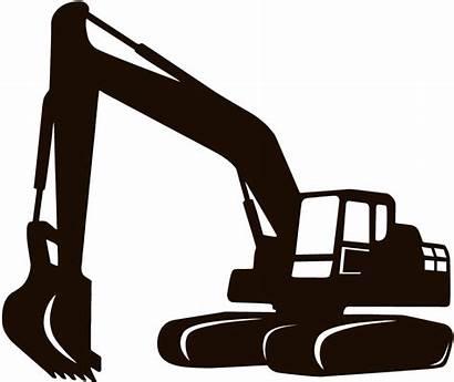 Construction Silhouette Backhoe Excavator Icon Site Heavy
