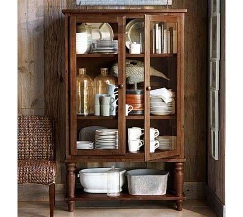 pottery barn kitchen cabinets sumner glass cabinet pottery barn 4375