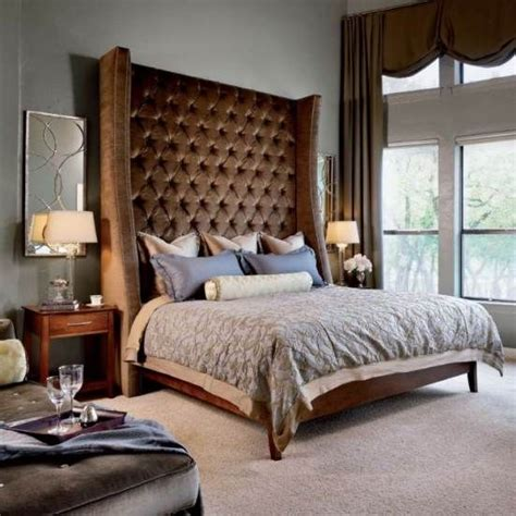 gray upholstered bed 11 best images about big headboard beds on