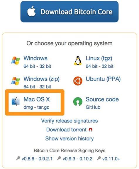 Install Bitcoin Core On Mac Os X