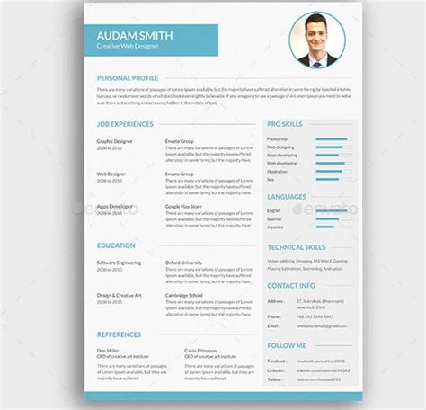 Style Cv by 24 Templates De Cv Sur Photoshop