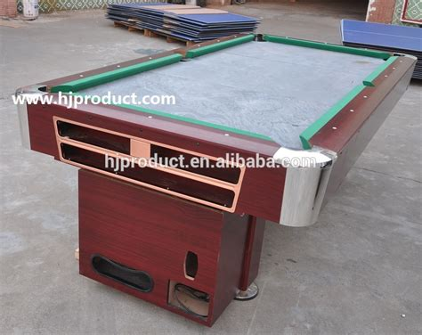cheap slate pool tables top grad quality and cheap price coin operated billiard