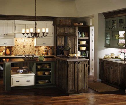 decora airedale cabinets  rustic alder  mink finish