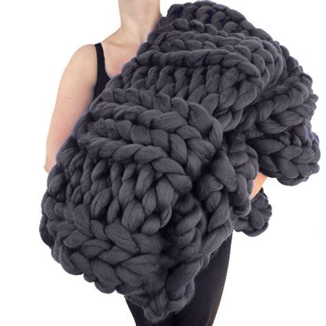 chunky blanket giant super chunky knit wool blanket the green head
