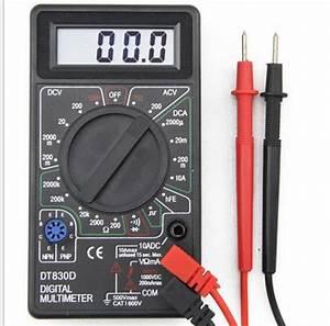 Ac  Dc Voltage Ampere Meter Tester Buzzer Dt830d Digital
