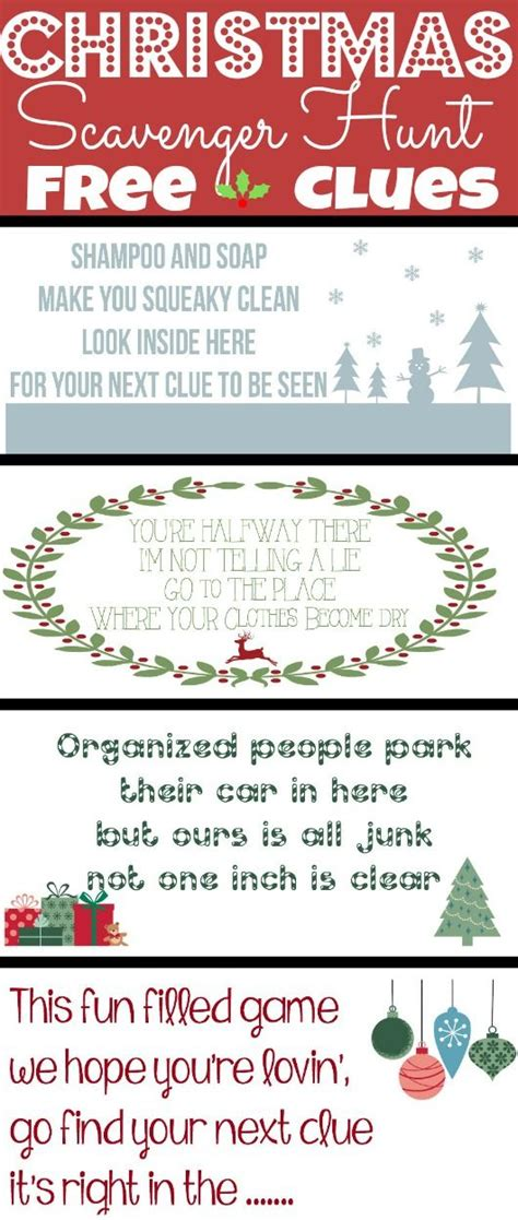 christmas scavenger hunt clues it s a mom s world posts