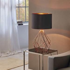 Lampenschirme Für Tischleuchten Vintage : bosco retro tischleuchte im vintage look kupfer schwarz 46829 ~ Bigdaddyawards.com Haus und Dekorationen