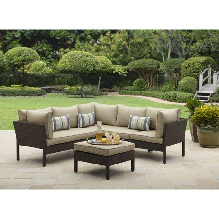 walmart patio furniture better homes and gardens avila 4 sectional
