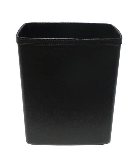 papeterie de bureau corbeille à papier de bureau en similicuir noir
