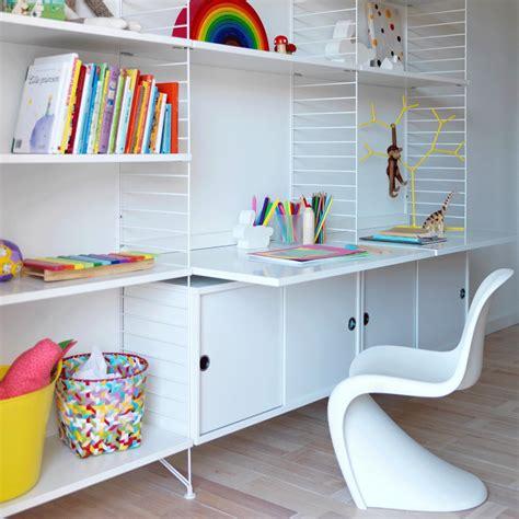 bureau string bureau étagères blanc blanc string design enfant