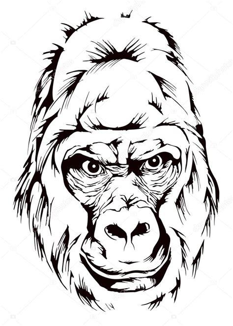 Mascota de mono gorila Archivo Imágenes Vectoriales