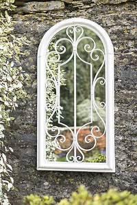 shabby chic arched garden mirror savvysurf co uk