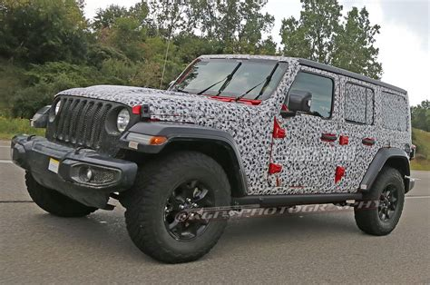 jeep unlimited 2018 spied 2018 jeep wrangler jl unlimited totally uncovered
