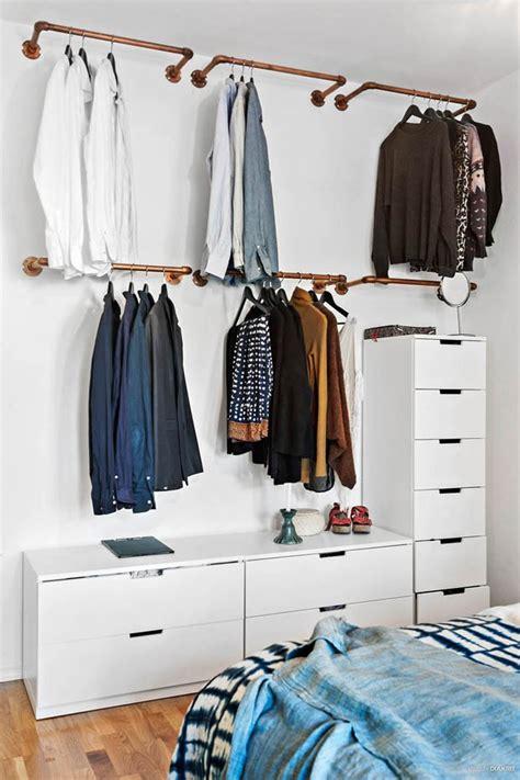 Ideas For Hanging Clothes Without A Closet by Guarda Roupa Aberto Como Fazer O Seu Casa Vogue Ambientes