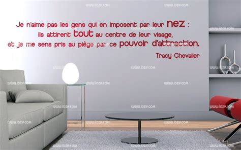 citation pour chambre adulte stickers citation sur le nez