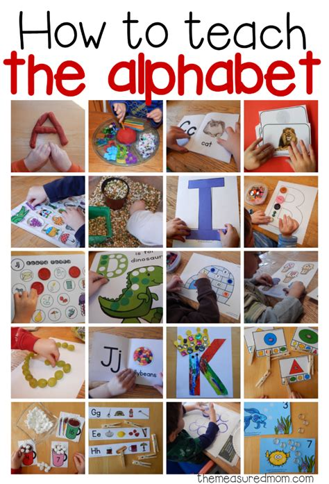 the best preschool activities for home or school 208 | How to teach the alphabet collage image