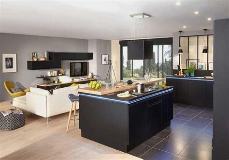 salon de la cuisine decoration cuisine ouverte sur sejour