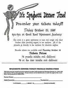 spaghetti dinner ticket template spaghetti dinner ticket With fundraiser dinner tickets template