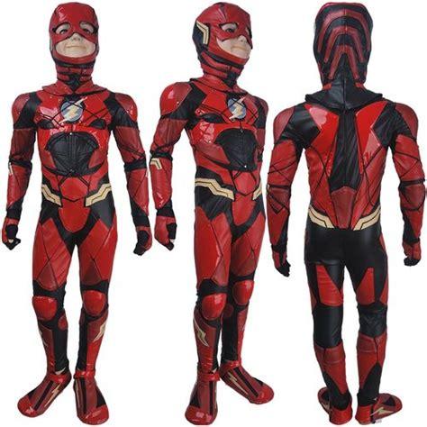 kids boys  flash barry allen cosplay halloween costume
