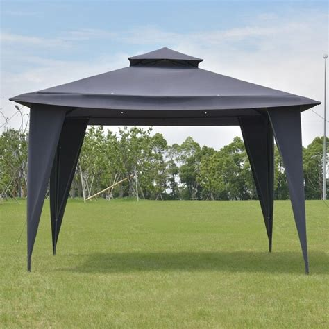 shop costway  tire  gazebo canopy shelter awning tent steel frame patio garden gray