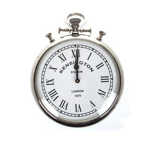 pocket wall clock silver pocket watch wall clock