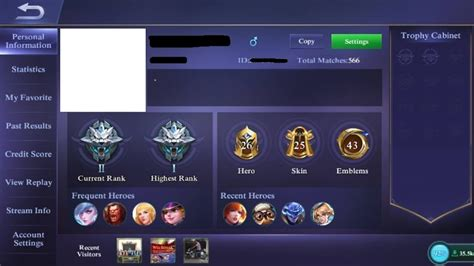 profil mobile legend update mobile legends dengan tilan profile baru codashop