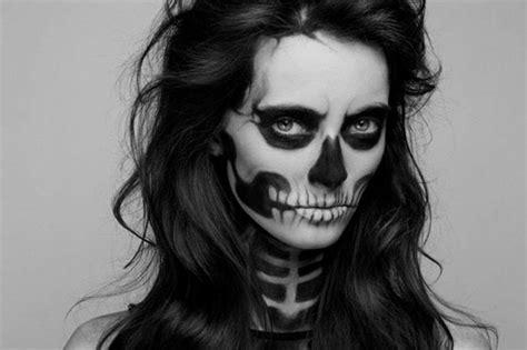 maquillage squelette femme facile russenko maquillage