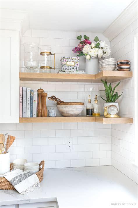 floating corner shelves   kitchen