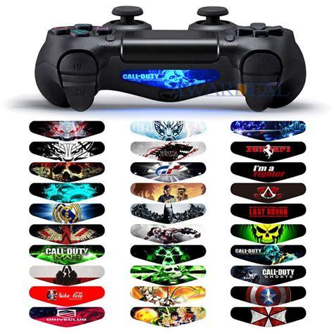 ps4 controller light stickers 30 pcs gaming topic designer light bar sticker skin for