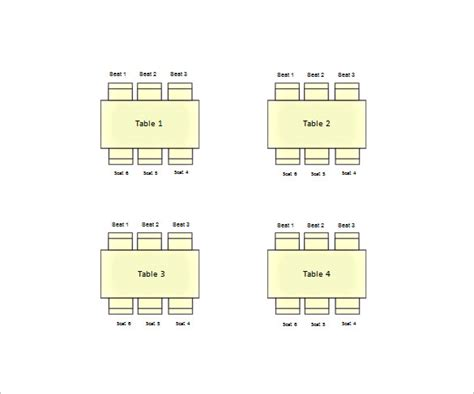 seating chart template excel 11 table seating chart templates doc pdf excel free premium templates